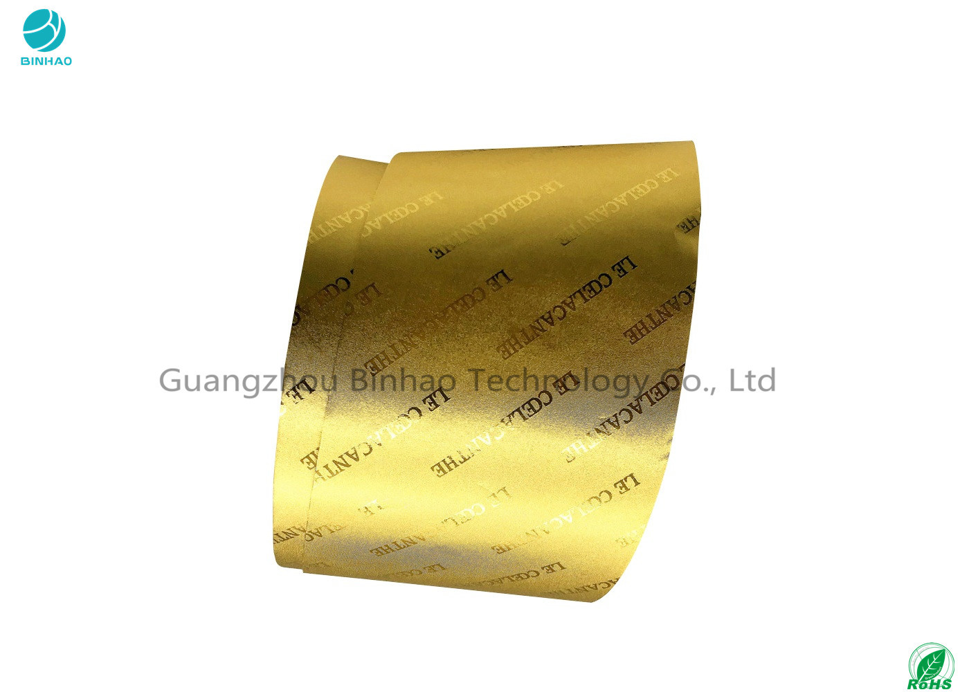 Gold And Silver Laminated Aluminium Foil Paper With Embossing Logo